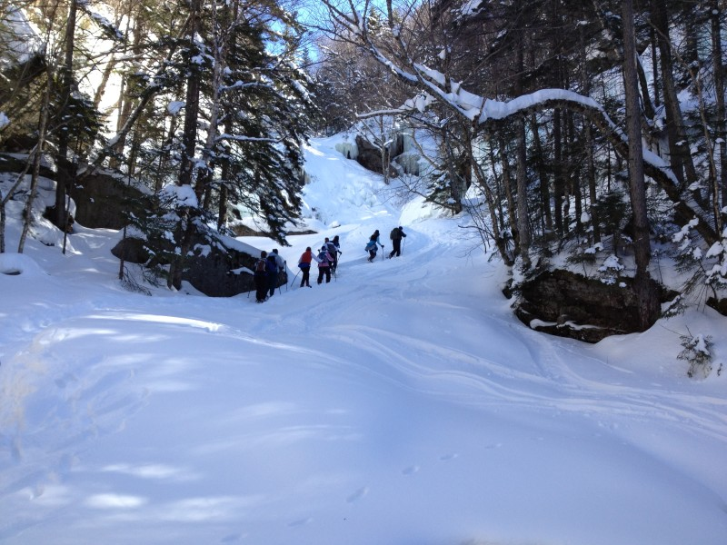 NH snowshoe hike